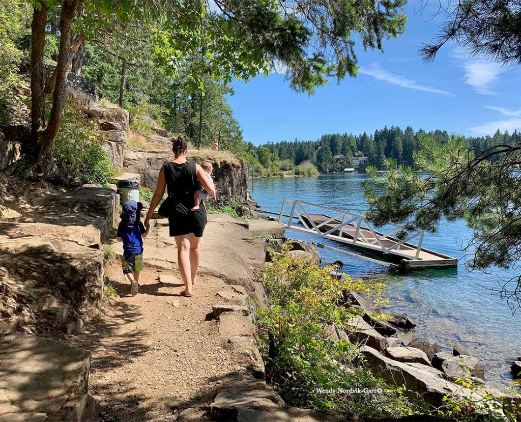 Top things to do from Victoria to Pacific Rim National Park - Walk along the trail to view the ancient petroglyphs on Sproat Lake. Photo Credit: Wendy Nordvik-Carr©
