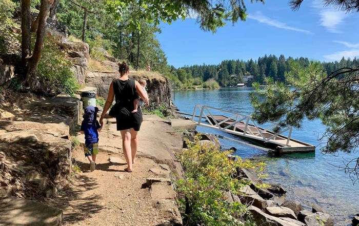 Top things to do on Vancouver Isalnd - Walk along the trail to view the ancient petroglyphs on Sproat Lake. Photo Credit: Wendy Nordvik-Carr©