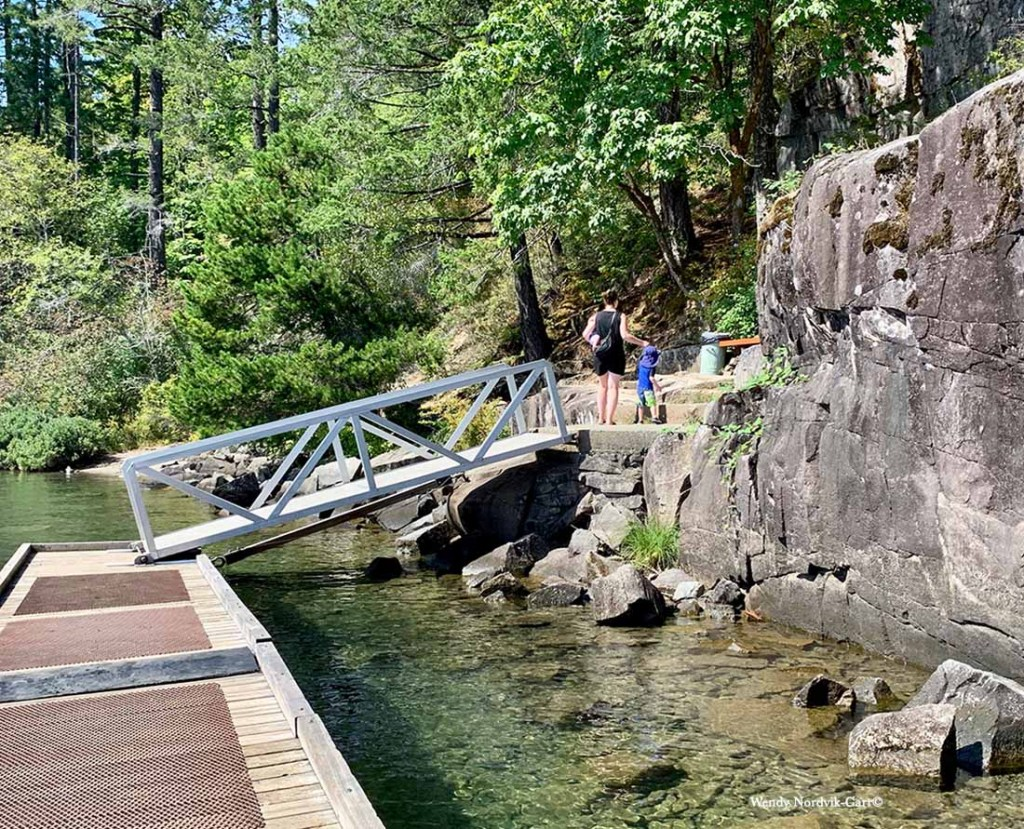 Walk along the trail to view the ancient petroglyphs on Sproat Lake Provincial Park. Photo Credit: Wendy Nordvik-Carr©