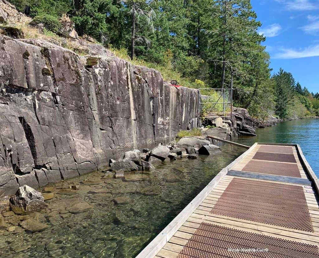 Walk along the trail to view the ancient petroglyphs on Sproat Lake. Photo Credit: Wendy Nordvik-Carr©