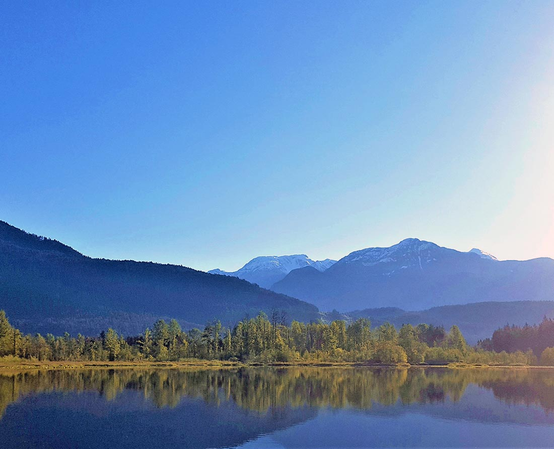 Swimming at One Mile Lake near Nairn Falls Provincial Park is one of the top things to do near Whistler and Pemberton area