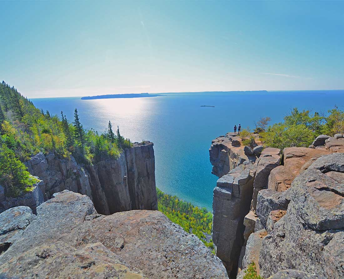 View from Sleeping Giant Provincial Park near Thunder Bay on one of the most scenic road trips around Lake Superior in Ontario.