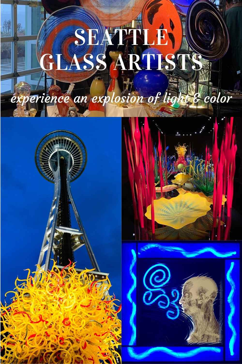 Seattle glass art experience a fiery explosion of light and color with video