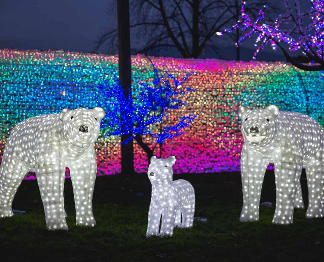 One of the best Vancouver holiday light displays can be found at the PNE's Winter Lights. Photo: Courtesy PNE