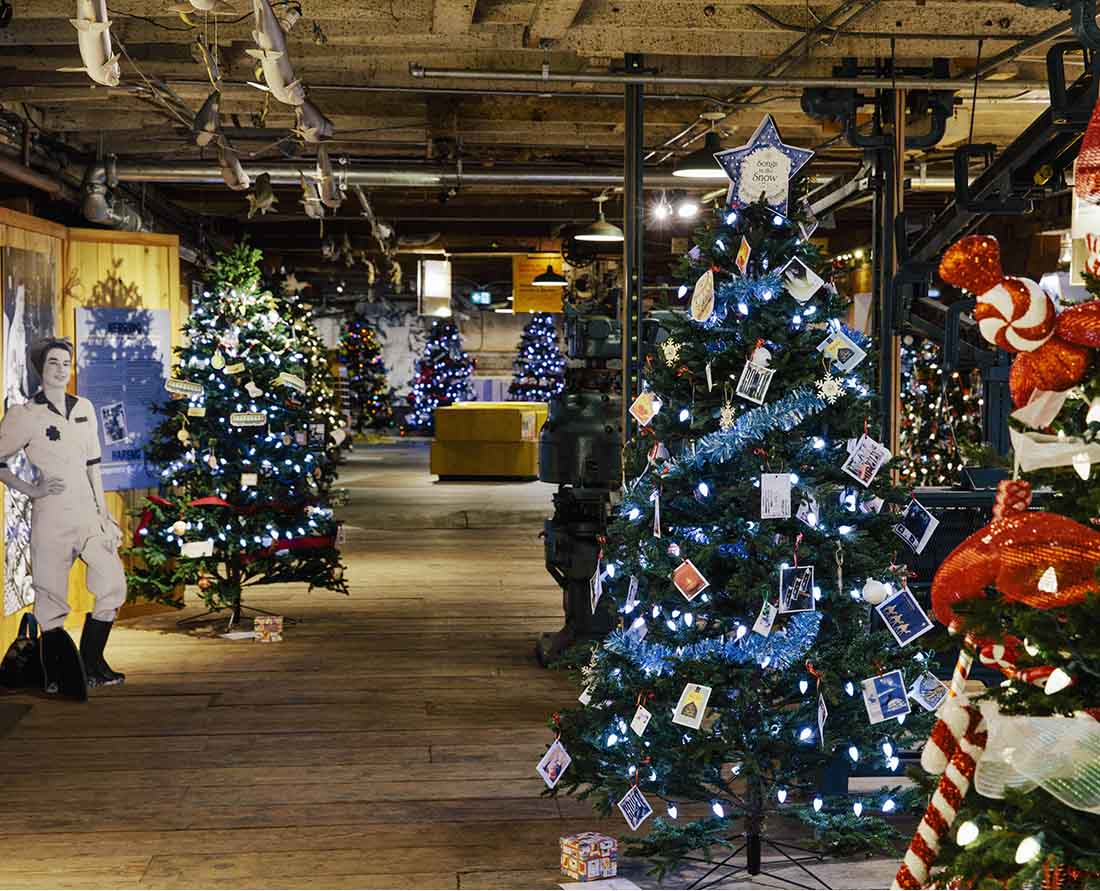 Metro Vancouver Christmas Events - Richmond's Festival of Trees Gulf of Georgia Cannery National Historic Site. Photo: Tourism Richmond