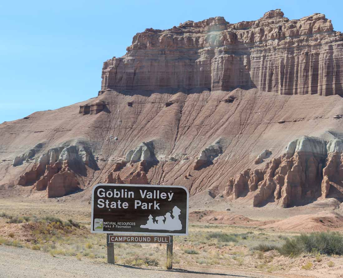 Make sure to reserve a campground spot in advance at Goblin Valley State Park in the canyonlands of Utah.