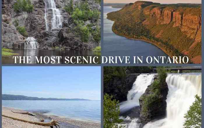 The Lake Superior route is one of the most scenic drives in Ontario