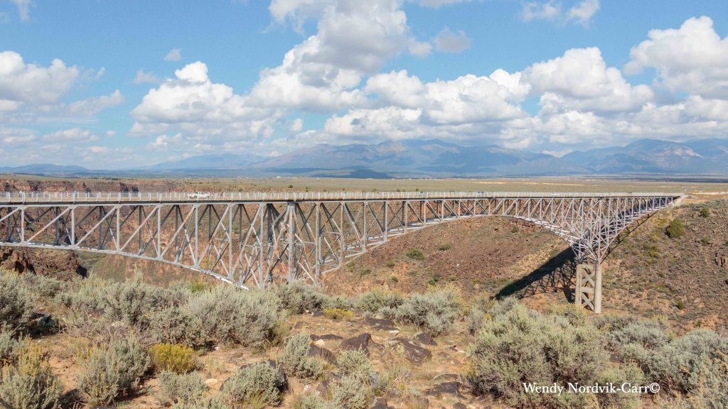The Rio Grande Gorge Bridge is one of the top things to see on a road trip from Taos to Santa Fe New Mexico. Photo: Wendy Nordvik-Carr©