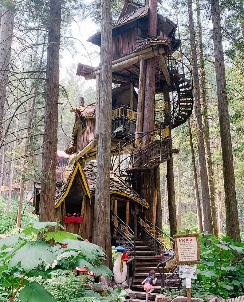 The tallest treehouse in BC is one of the best places to see in BC for family adventures.
