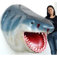 Jumbo Shark Head Wall Mount Statue