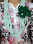 Mint Shamrock Necklace