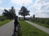 Riding the Kinderdyk trail