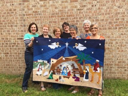 Nativity Quilt group shot