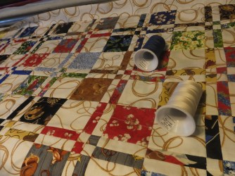 Playing with quilting color thread
