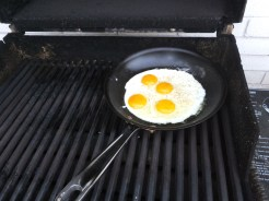 Saturday breakfast on grill