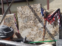 Granite on the truck