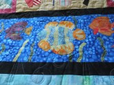Quilting from the back of quilt