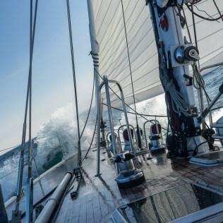 LifeSong en pleine navigation en Baie de Disko