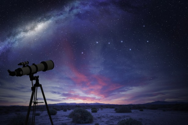 telescope looking at the Great Bear constellation
