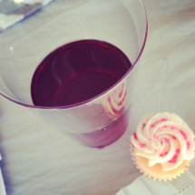 Mini Cupcakes in Wine Glass