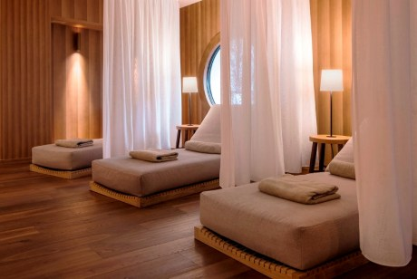 The Faloria Spa Resort opens a new wing, and internal restyling designed by Italian architect Flaviano Caprioti. In ths picture: