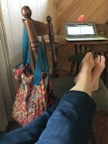 lisa feet and laptop for blog