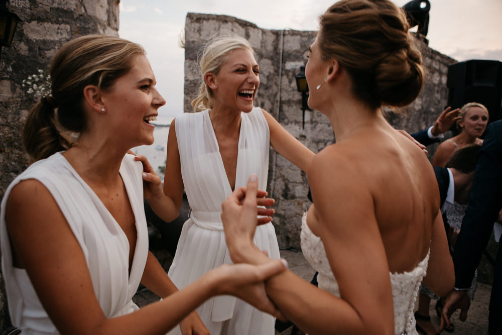 Wedding Party in Hvar Fortress in Croatia