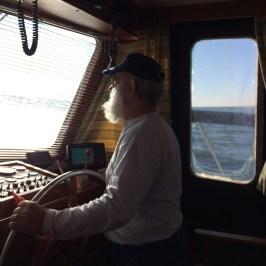 Tom driving