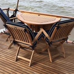 Boat Chairs Folding Deck Chair Side Table Walk Through