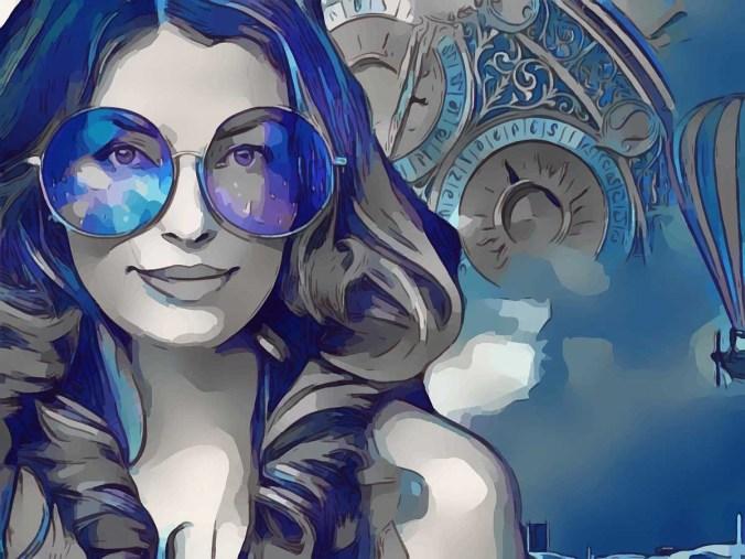 Brille Gesicht Frau
