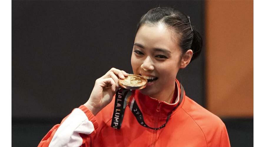 Lindswell Kwok Atlet Wushu Cantik Asian Games 2018