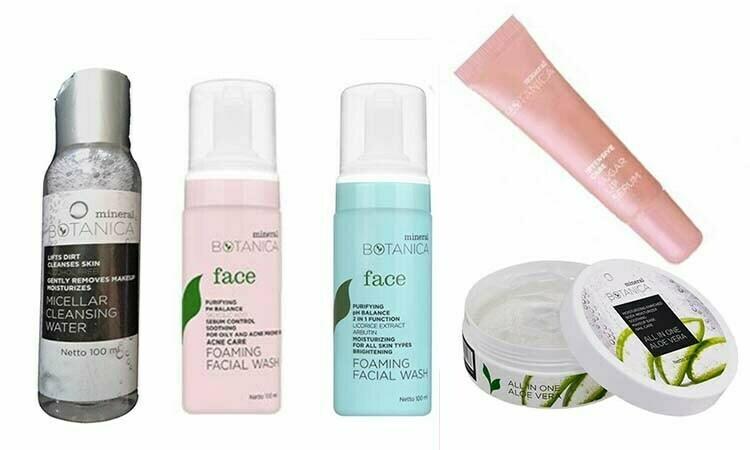 Rangkaian Produk Skincare dari Mineral Botanica dengan Harga Dibawah Rp 50.000