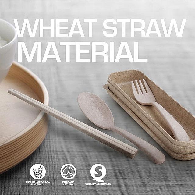 Wheat straw material Dinnerware Set 3pcs