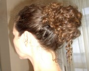updos curly hair casual