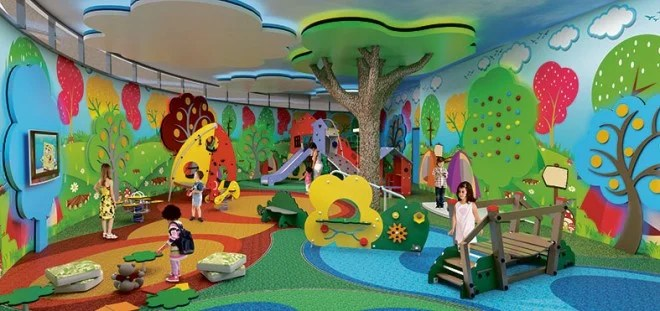 Artist's rendition of Alveira Country Club Indoor Play Area