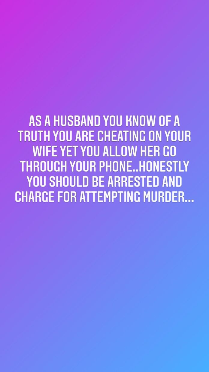 Men Who Cheat And Allow Wives Check Their Phone Should Be Charged With Attempted Murder - Charity Nnaji