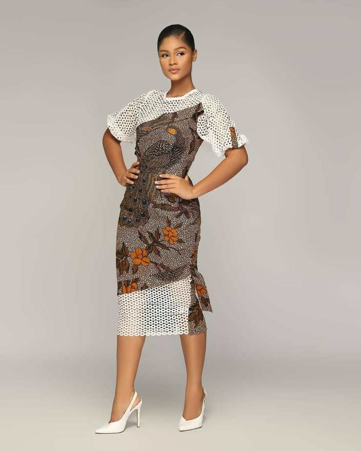 A Line Ankara Style With Material Sleeve And Frock