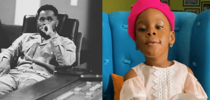 Awwn! See The Beautiful Moment Patoranking's Daughter Sang For Him