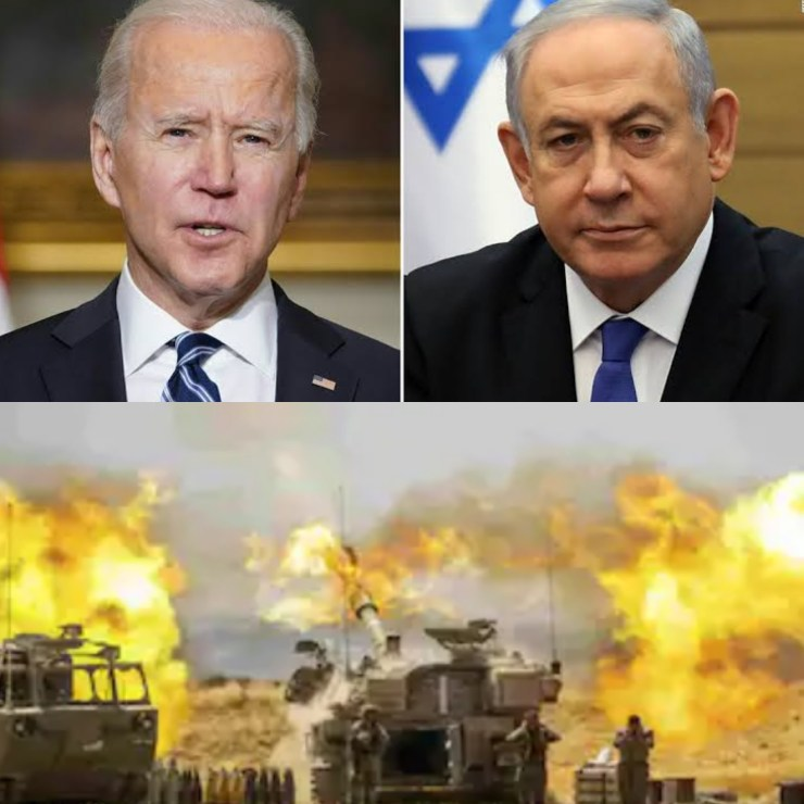 Israeli Prime Minister Benjamin Netanyahu vows to keep on with attacks against Hamas as he rejects Biden