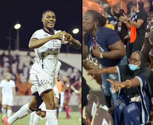 Odion Ighalo shares his joy after scoring in front of his mum who was watching him play live for the first time in his career (Video)