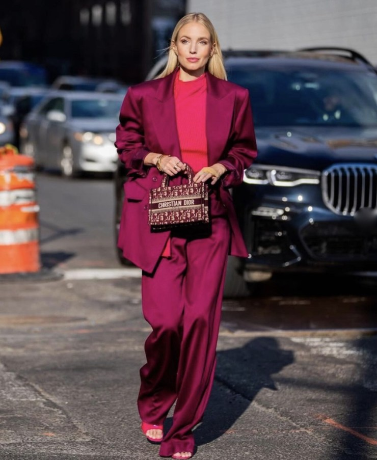 Leonie Hanne how to style wide leg pants stylerave