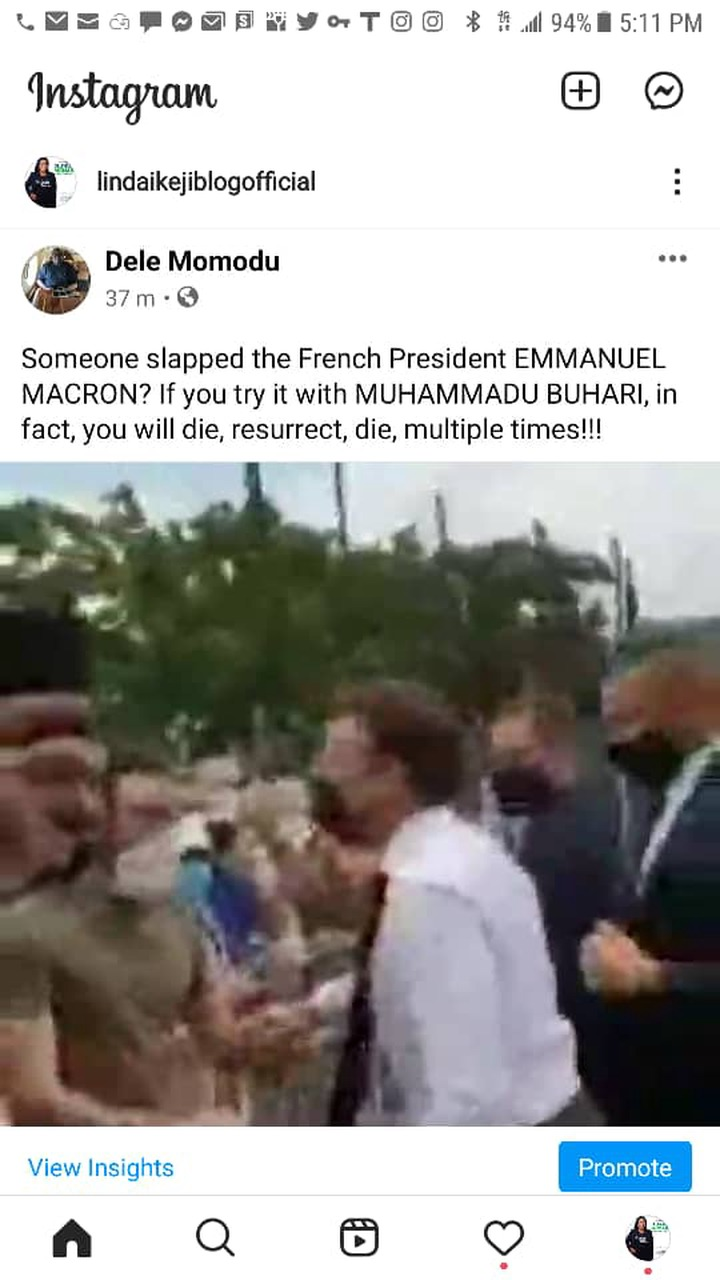 If you try it with Buhari, you