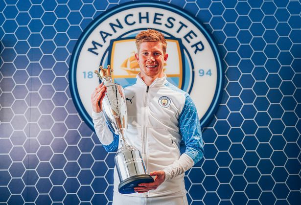 Kevin De Bruyne wins PFA Player of the Year award for second time in a row