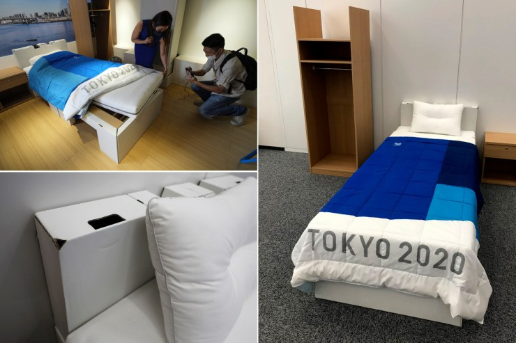 Tokyo Olympics installs cardboard beds inside Olympic Village to  discourage Athletes from engaging in sexual activity (photos)