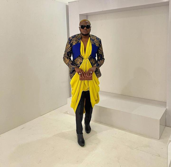 man wearing eccentric clothes