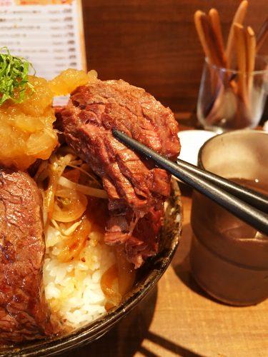 1ポンドのステーキ・ハンバーグタケル 福島店_ステーキ丼④