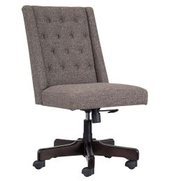 picture of grey tufted desk chair  [ 1200 x 1200 Pixel ]