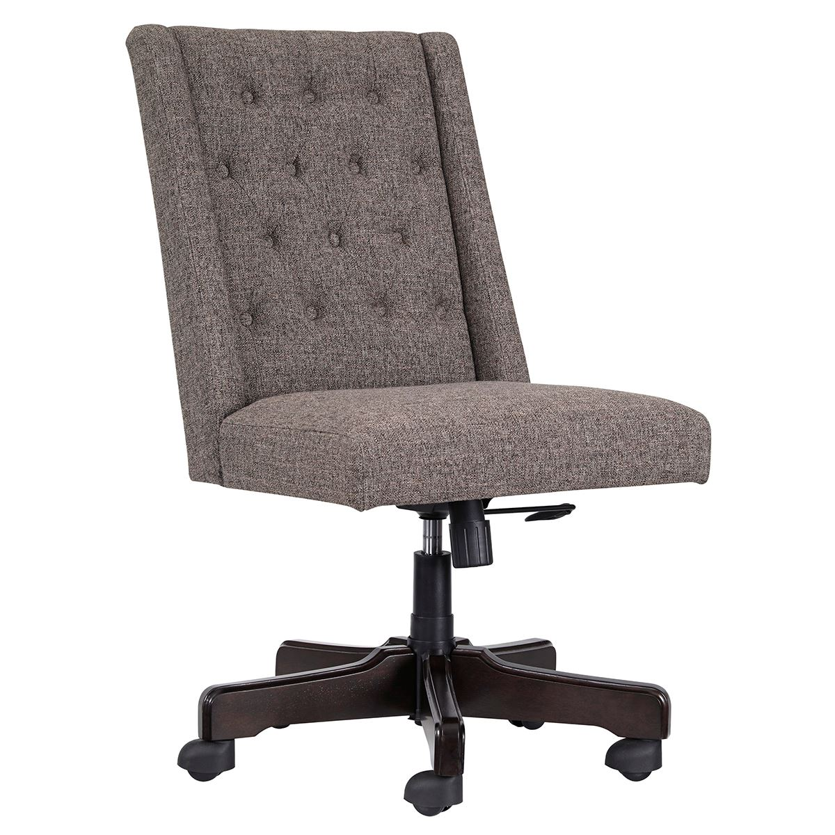 hight resolution of picture of grey tufted desk chair