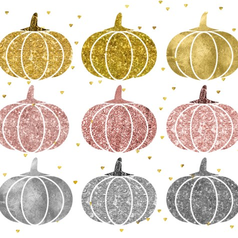 rose gold pumpkins