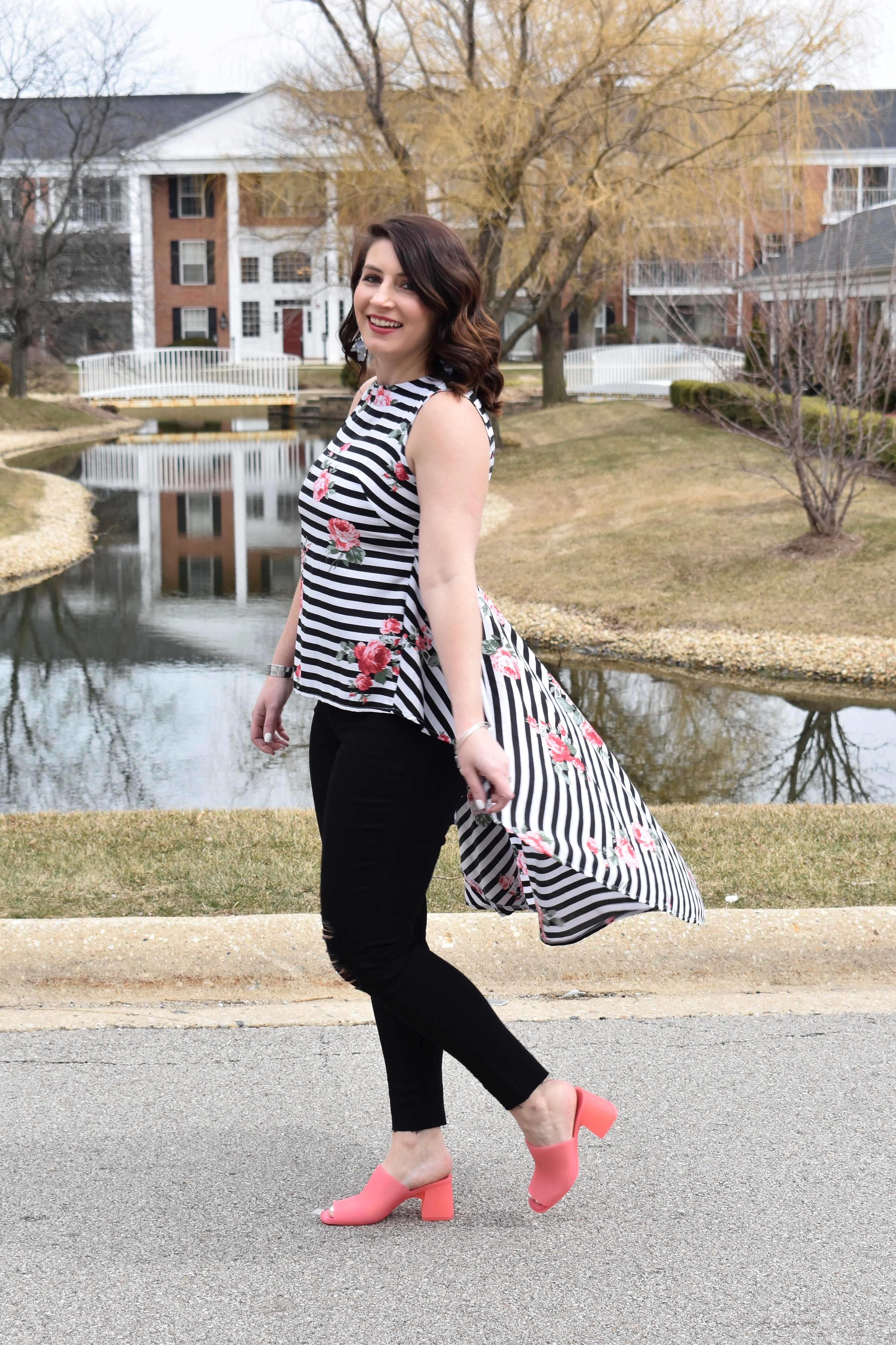Floral and Stripes for Spring